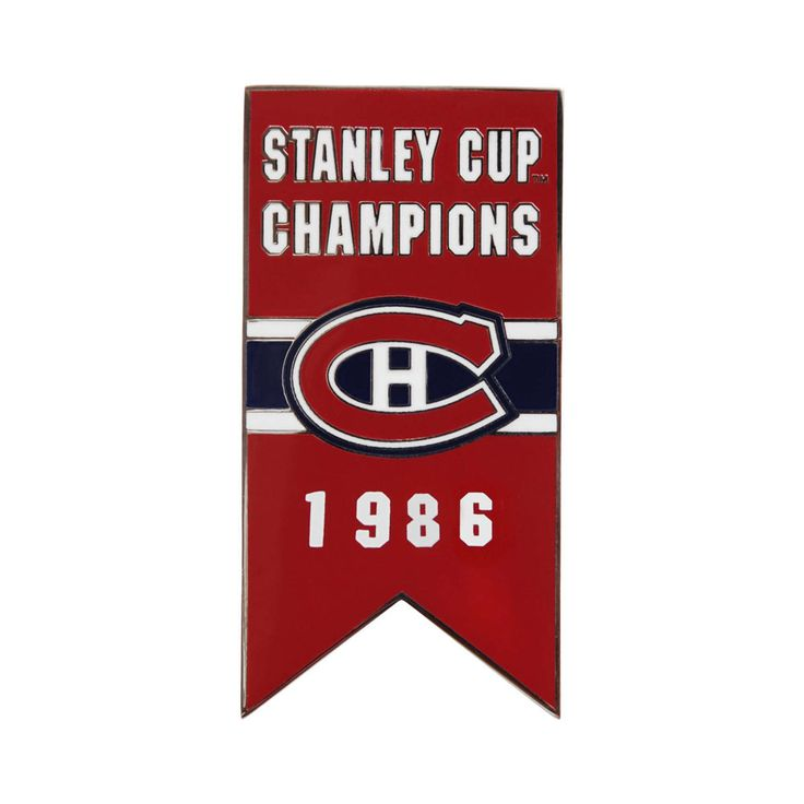 Montreal Canadiens 1986 Stanley Cup Champs Banner Pin