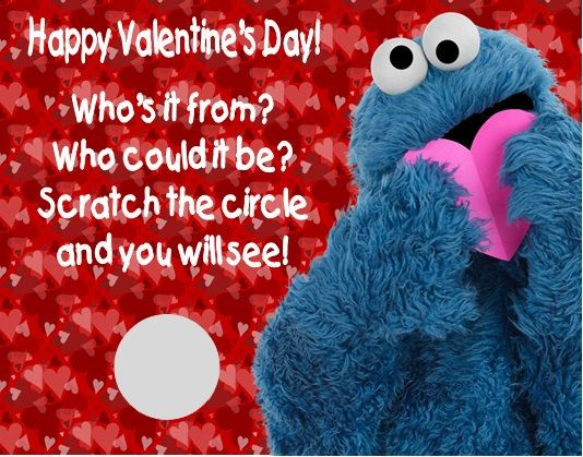 66 best images about cookie monster – Cookie Monster Valentine Cards