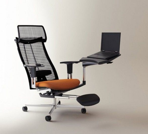 Innovative, ultra-comfortable chair and computer workstation mPosition