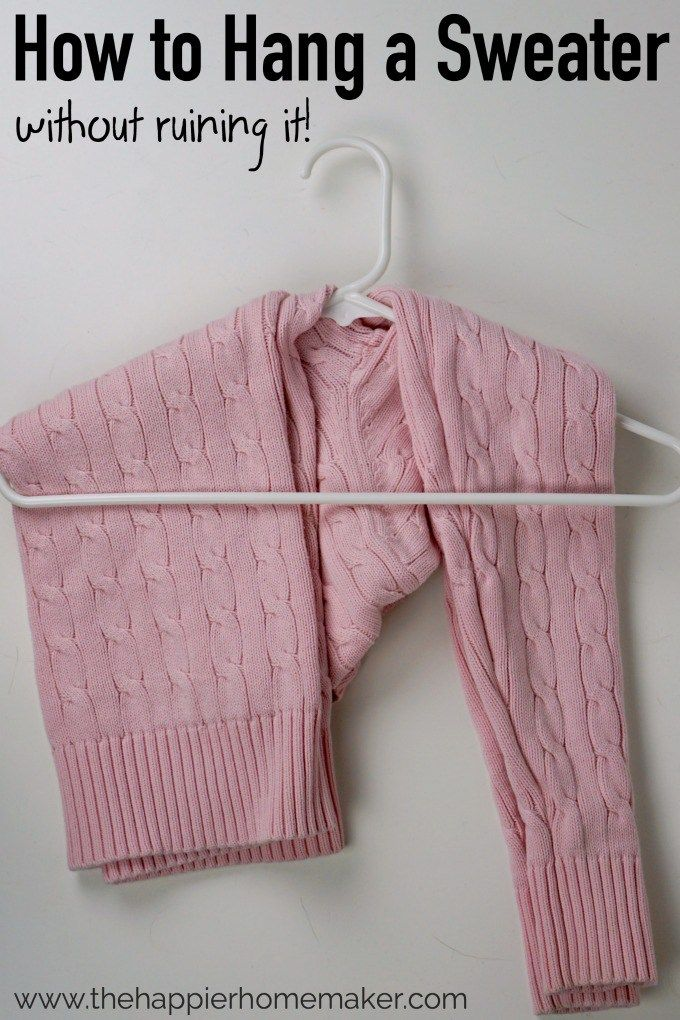How to Hang a Sweater