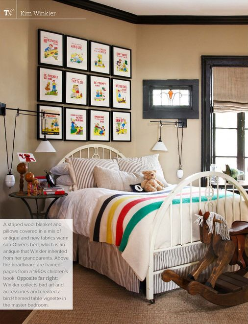 Love those prints and the Pendleton blanket for the a future little dude.