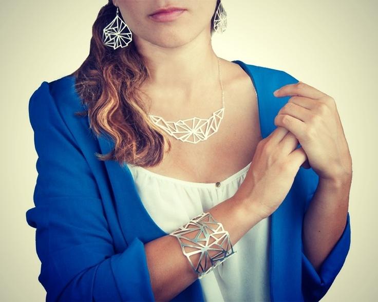 Üçgen Serisi | Triangle motif lazer cut metal jewelry | üçgen şekilli lazer kesim metal takılar