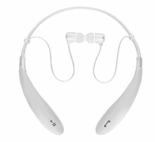 SuperSonic White Bluetooth Neckband Headphones Smartphone Mic Built-In Controls