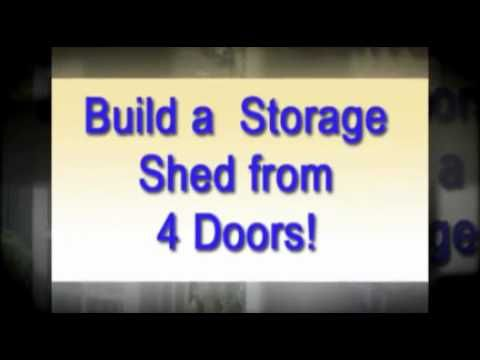 Build Shed From Four Doors