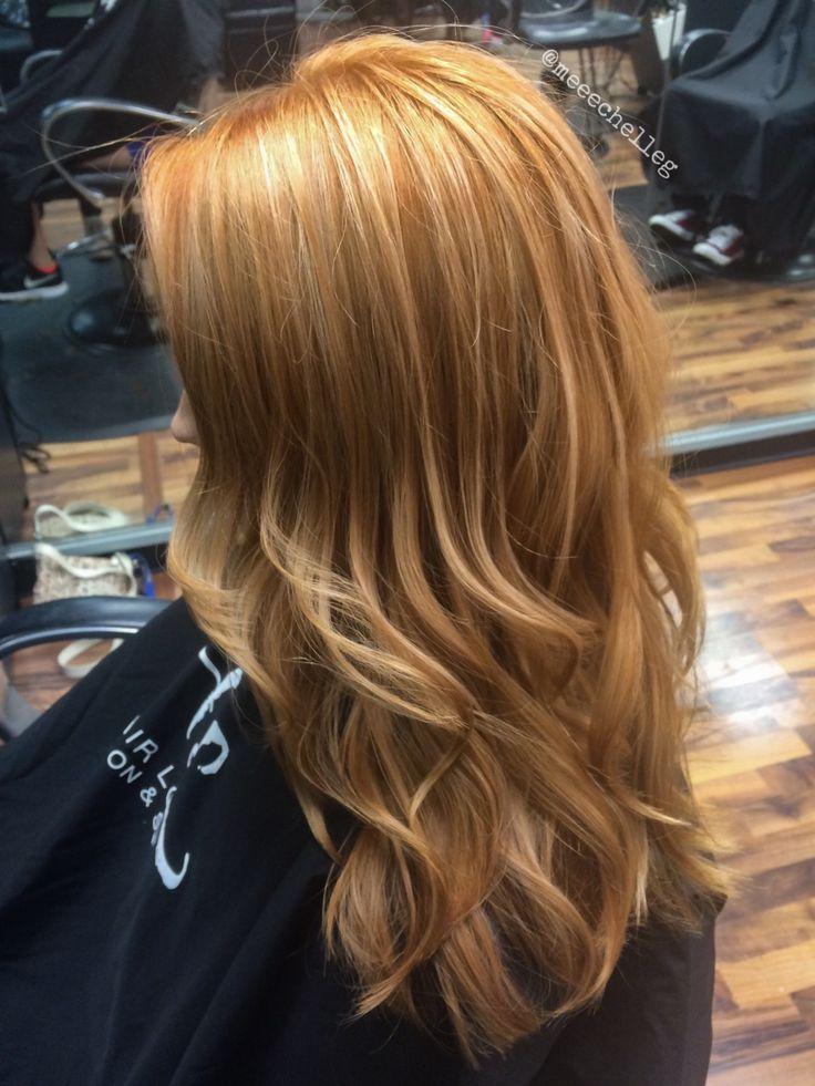 Natural Redhead Copper Highlights Beach Hair Loose