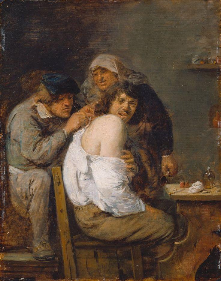 Gemälde von Adriaen Brouwer, ca. 1636, Öl auf Eichenholz