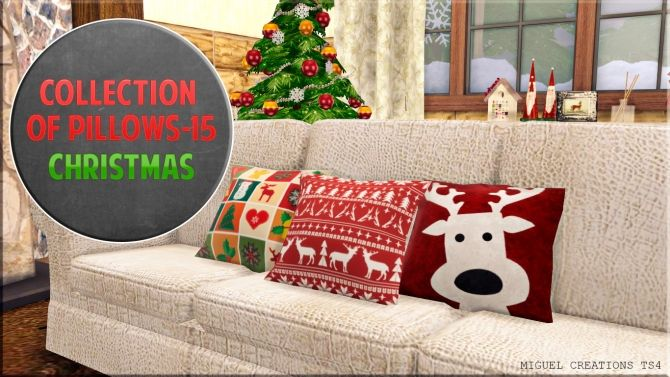 Collection of Pillows 15 (Christmas) at Victor Miguel • Sims 4 Updates