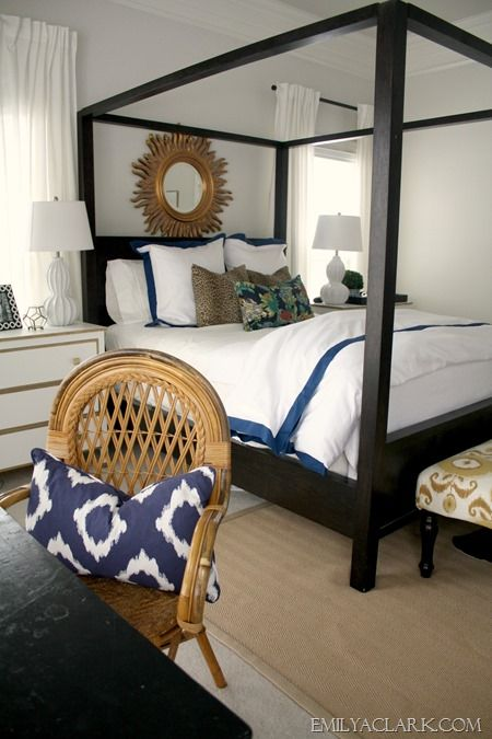 Updating Our Master Bedroom Bedding Cane Furniture Black And Blue And Bed Lights
