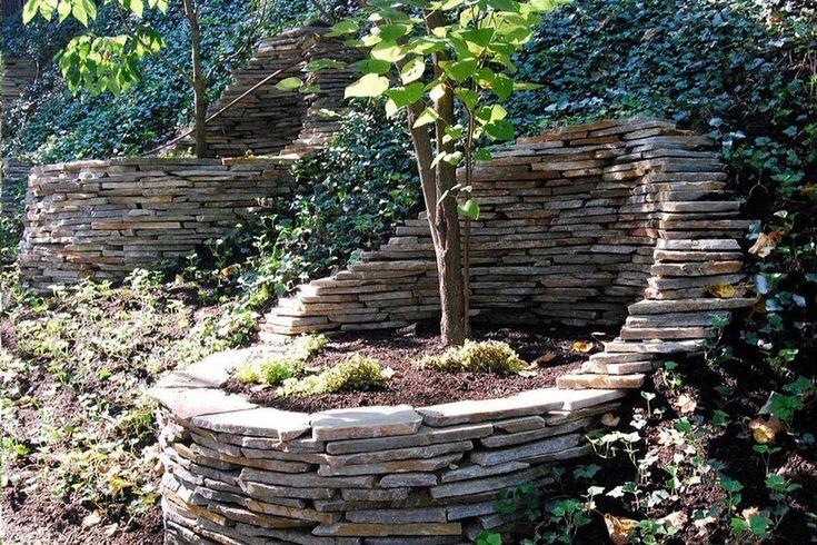 Использование камня в ландшафтном дизайне. Идеи для дачи и сада.