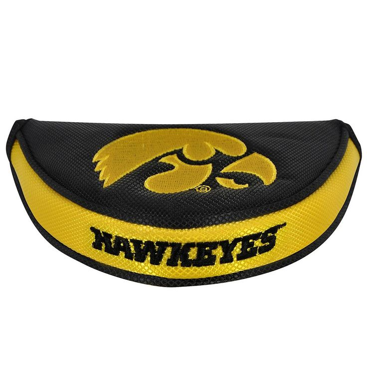 Team Effort Iowa Hawkeyes Mallet Putter Cover, Multicolor