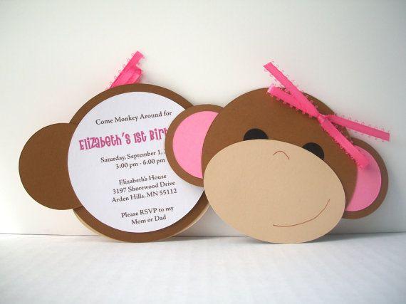 Monkey Around Invitation by bellybeancards on Etsy, $25.00