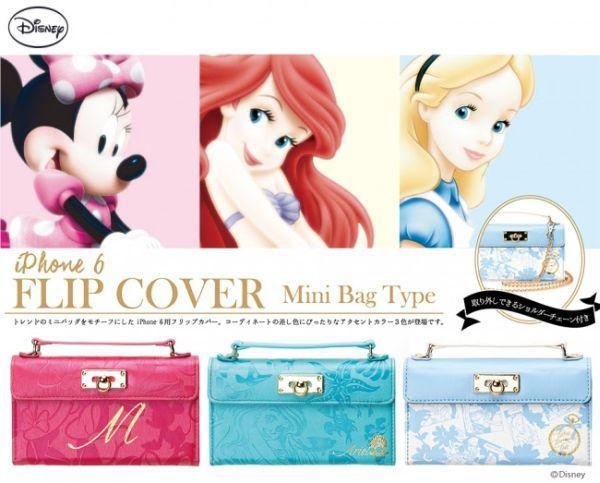 ミニバッグのようなiPhone 6ケース、「ミニーマウス」「アリエル」「アリス」
