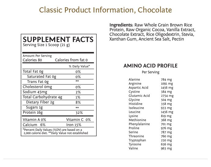 Sun warrior protein ingredients list