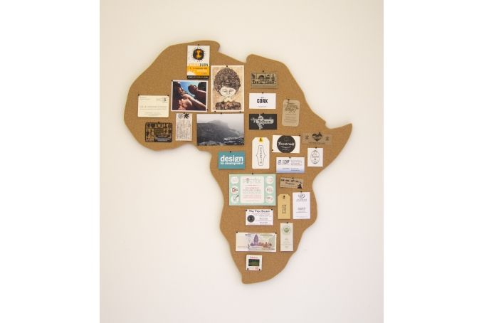 Custom Shaped Cork Pin Board - Africa by get cork on hellopretty.co.za
