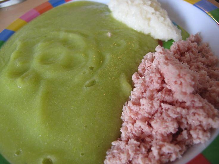 Purée courgette - jambon - riz - à partir de 7 mois
