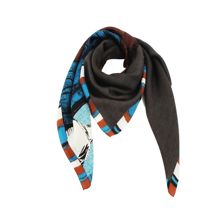 PM-1067 - Grand House: Designed by Ana Maison.  This oversize scarf is created to provide the same feeling of coziness.  Material: Silk 60% ; Wool 40%  Made in Korea. #Silk #Scarf