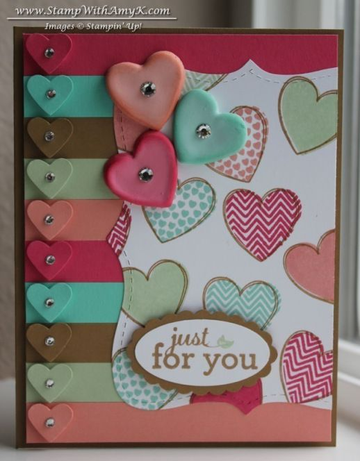 Hearts a Flutter new in-colors simply pressed clay die cut used to cut clay into hearts while still wet