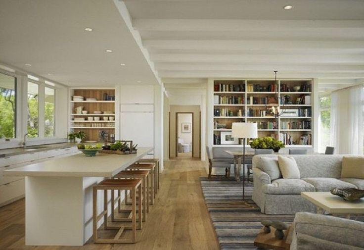 open plan living room kitchen wooden floor - google search
