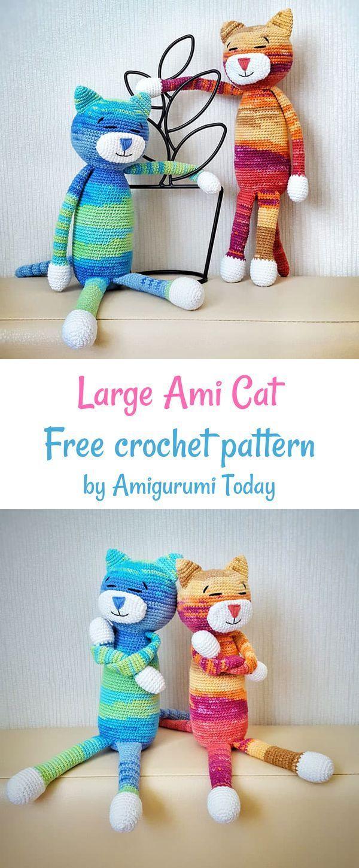 Large Ami Cat Crochet Pattern Crochet Patterns Crochet Crochet