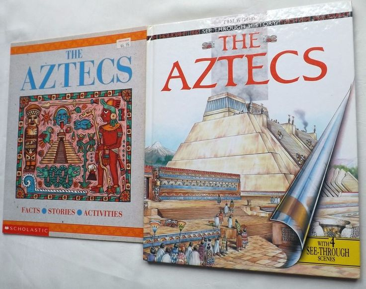The Aztecs History Facts Stories Activities Lot 2  Vintage Childrens Books