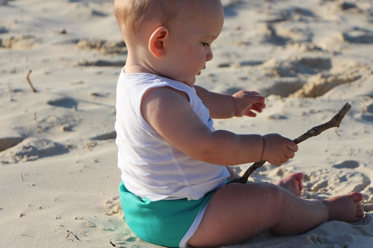 My cute little bubba in his Turquoise Pikapu.  So great for the beach.