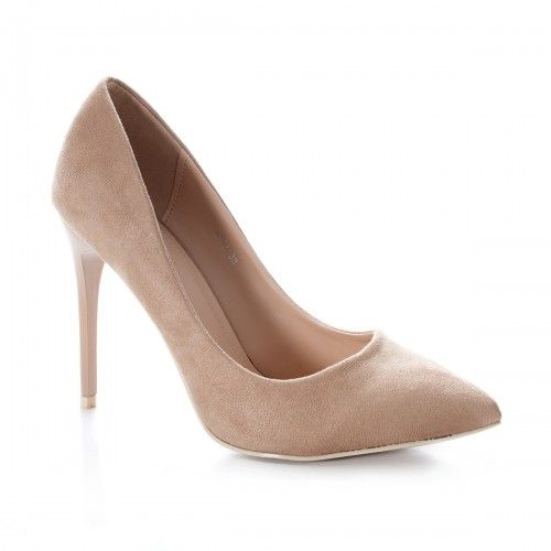 Pantofi dama Stiletto Honner bej cu toc