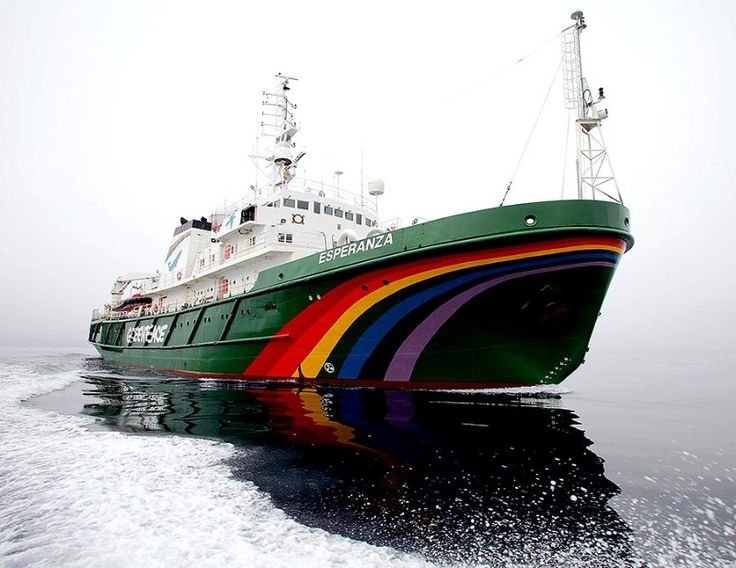 The Greenpeace ship Esperanza in the Davis Strait off the coast of Greenland.Greenpeace is in the Arctic attempting to prevent deep sea oil drilling in a bid to protect the pristine Arctic environment. The Leiv Eiriksson is operated by Cairn Energy and is the only rig in the world currently set to begin new deep sea drilling in the Arctic making it a clear and present danger to the arctic environment.