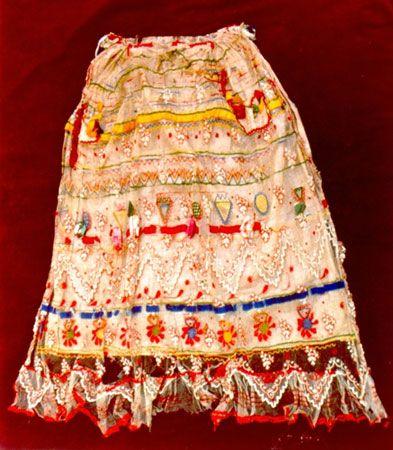 Νυφιάτικη ποδιά Λευκίμμης Κέρκυρας / Bridal apron Lefkimi Corfu