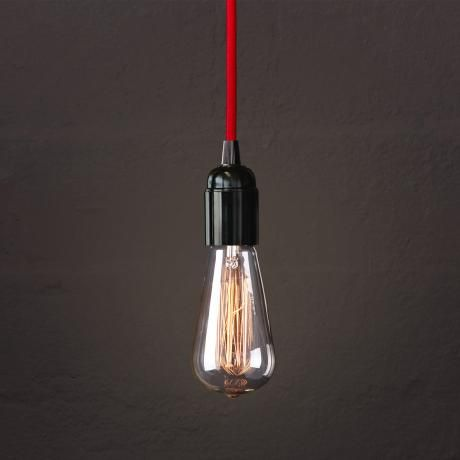 Fabric Cable Pendant Set – Red from Let There Be Lighting - R549 (Save 20%)