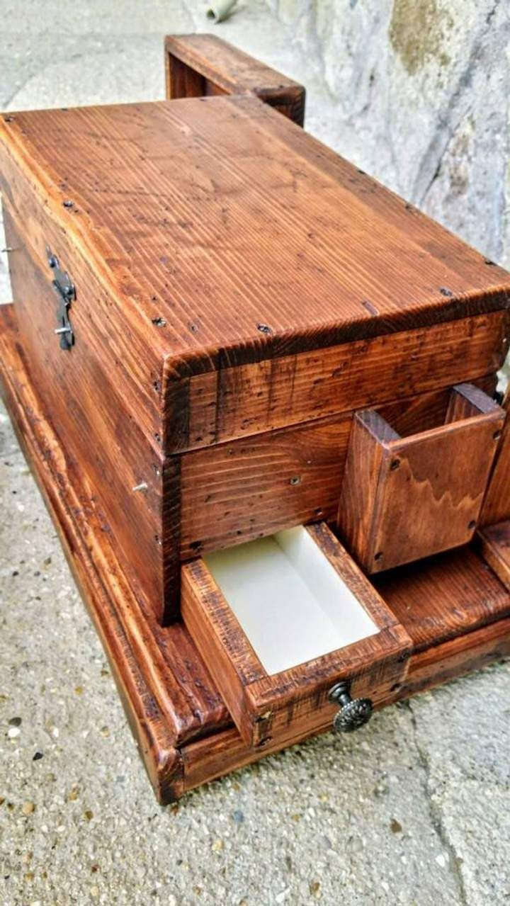 The perfect gift for her! Unique Jewelry Boxes ~ Handcrafted with a secret drawer