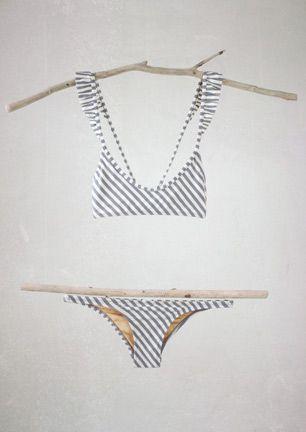 Made by Dawn Stone Stripe Bikini. Love this!!