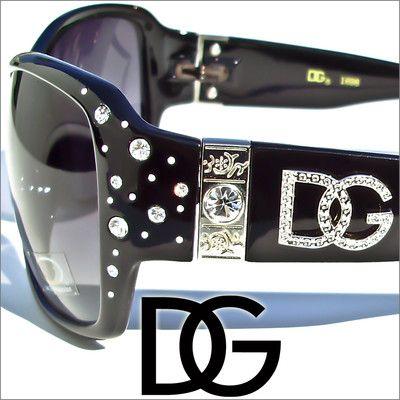 Like A Boss! #hawtsome - DG Sunglasses Womens Rhinestones Black Designer #Shades