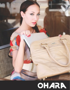 Tech girl on the go? The perfect fashion solution!    http://www.oharadesigns.com/bags-wallets/laptop-bags.html