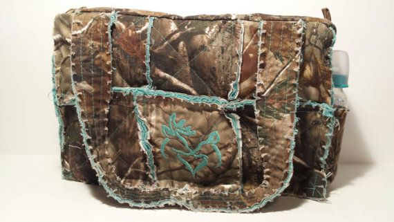 RealTree camo diaper bag / large camo rag bag by daleshandmade