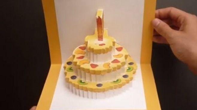 3D Kağıt Sanatı - Yaş Pasta Kart Yapımı - 3D kağıt dersleri - teknikleri, örnekleri ve ipuçlarını videolu anlatımı. Yaş pasta kart yapımı