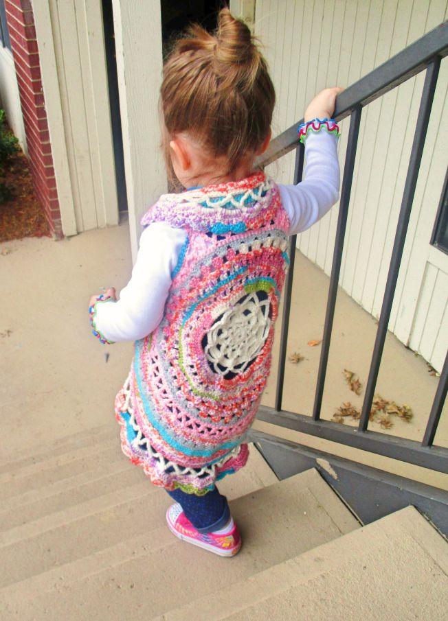 Boho Crochet Circle Vest- Free Pattern   Hobbies & Hugs