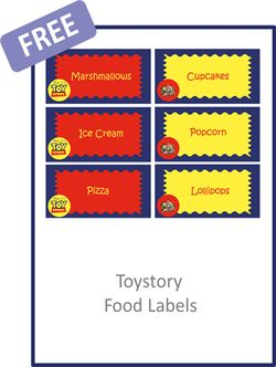 Toy Story Food Labels - FREE PDF Download