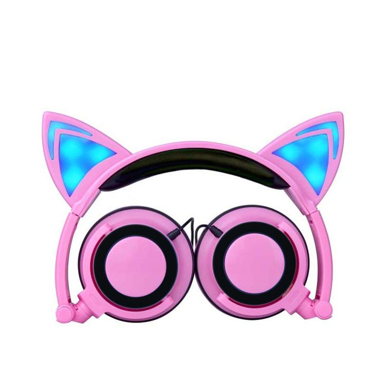 Cat Headphones Gaming Headset Earphone with LED Light For PC Laptop Computer Mobile Phone