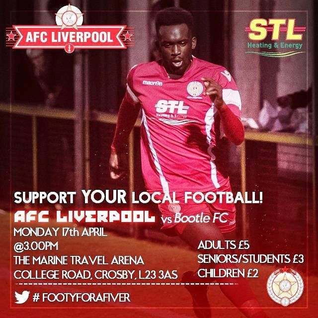 Penultimate home game of the season sees us take on our neighbours Bootle FC tomorrow at 3pm. Get down and support the lads
