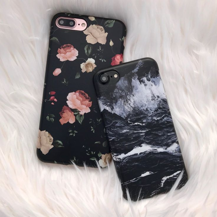 Throwback to one of our favorites  Dark Rose Florals & Black Marble Case for iPhone 7 & iPhone 7 Plus from Elemental Cases