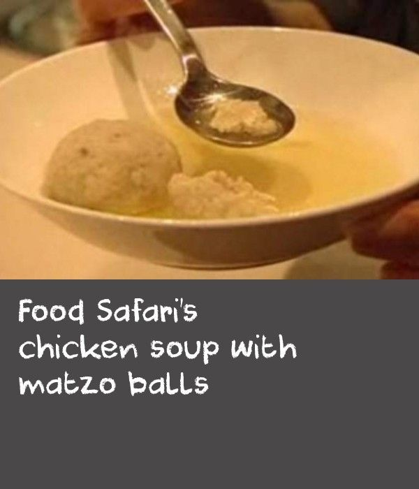 Food Safari's chicken soup with matzo balls | This soup is traditionally eaten at Passover, a Jewish holiday commemorating the story of the Exodus, in which the ancient Israelites were freed from slavery in Egypt. If you don't own a 20 litre stockpot, you can simply halve stock ingredients (except carrots) and it will still serve eight.