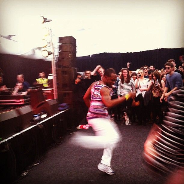 One of Big Freedias dancers #atp #festival #bigfreedia #london #ibym2013 #allypally #neworleansbounce