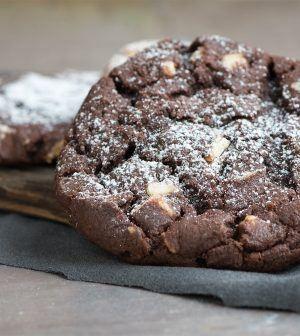 Chocolade koekjes met avocado