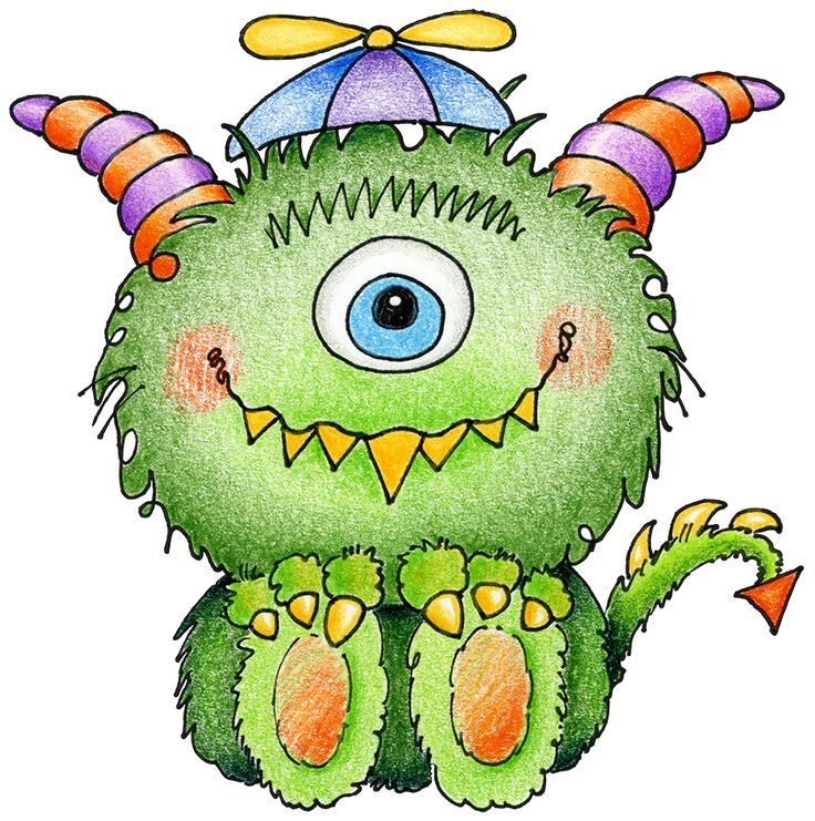 monster monsters cute clipart clip inc cartoon cliparts scary mash funny party baby paintings crafts purple beanie troe annie library
