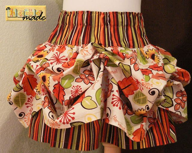 FREE TUTORIAL AND PATTERN -- to make a girl's bustle skirt. Wouldn't this be cute with a matching skirt for an American Girl doll !!!