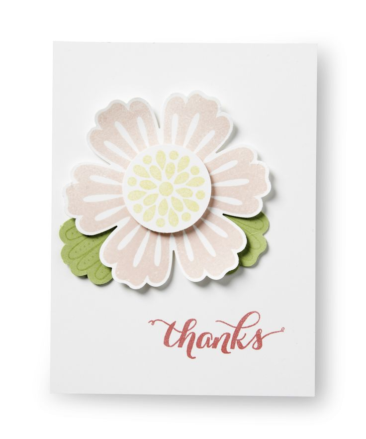 We love this sweet little thank you note made with the Mixed Bunch stamp set.