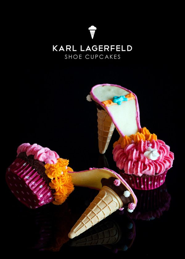 Lovely dessert - cupcake cone high heels!!! perfect for a shower or bachelorette!