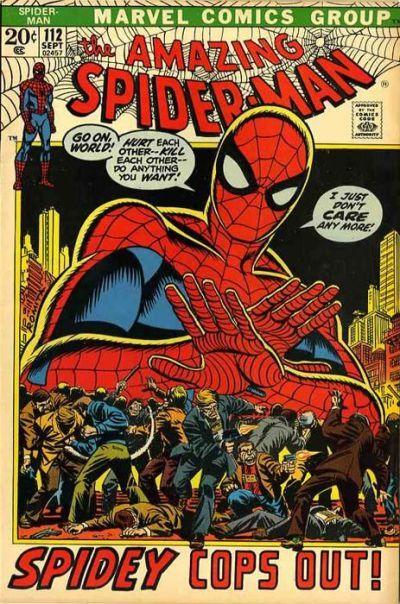 """Spidey cops out!"" Amazing Spider-Man 112. #SpiderMan"