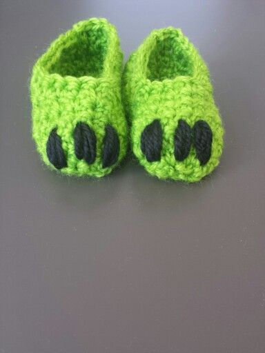 Monster Baby Booties crochet