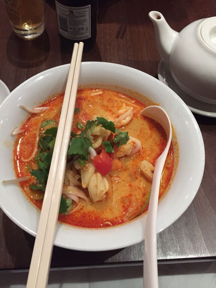 Best Laksa soup in London Chompo.